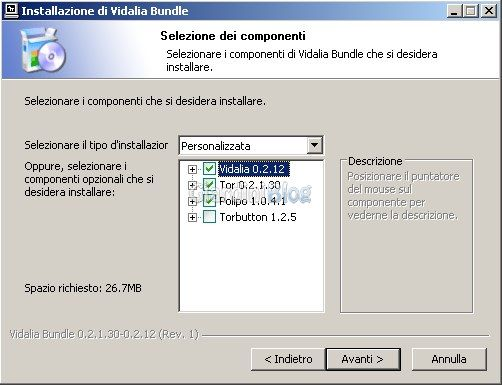 Instalador de Windows de vidalia